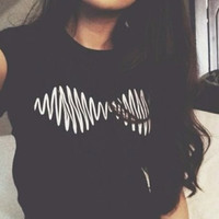 ARTIC MONKEYS WAVE T SHIRT Women Sexy tees Hip Hop tops Sport tee Fashion Clothing Summer Style Crewneck shirts Plus Size