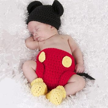 Red Mouse Baby Knit Outfit