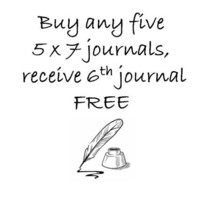 Buy any five 5 x 7 journals receive the 6th by JournalingJane