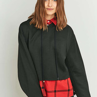 Cheap Monday Attract Cropped Black Hoodie - Urban Outfitters