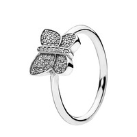 PANDORA Ring - Sterling Silver & Cubic Zirconia Sparkling Butterfly