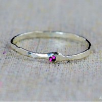 Freeform Ruby Ring