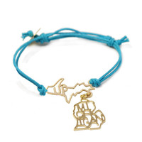 Michigan with UP Cord Bracelet