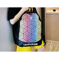 ADIDAS fashion hot seller lady's gradient stitching shopping backpack #3