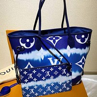 Louis Vuitton LV Two-piece Fashion Ladies Rainbow Contrast Color Tote Bag Shopping Bag Shoulder Bag