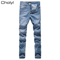 2017  Men's Skinny cholyl Jeans Man Classic Slim Fit Stretch Casual Jeans Tight Denim Jean Mens Pencil Jeans Pants For Male