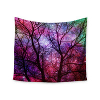 """Suzanne Carter """"Starry Night"""" Purple Pink Wall Tapestry"""