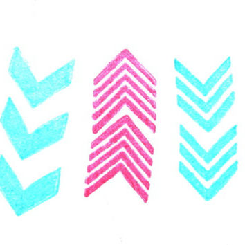 CHEVRON PATTERN STAMPS - Custom Rubber Stamps - chevron stamp, card stamp, gift tag stamp, pattern stamps, packaging stamp, etsy labels