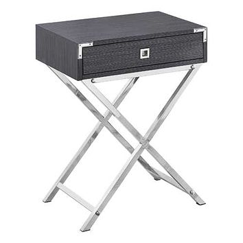 "Grey, Metal, Particle Board - Accent Table 12"" x 18'.25"" x 24"""