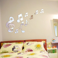 3D Mirror Music Notation Wall Decals