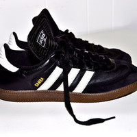 ADIDAS 1980s Samba Indoor Soccer SNEAKERS Shoes Black by louise49