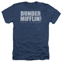 THE OFFICE/DUNDER MIFFLIN DISTRESSED - ADULT HEATHER - NAVY -