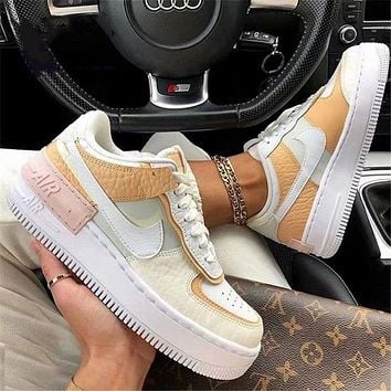 Nike Air Force One Daisy Macaron Women's Shoes Candy Cream Mango Color Girly Pink All-match Shoes