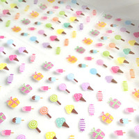 sweet candy ice cream sticker yummy desset label pink washi tape set candy house little icon food label planner sticker gift set