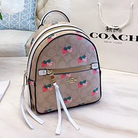 COACH New Woman Men Leather Daypack Travel Bag Bookbag Shoulder Bag Backpack