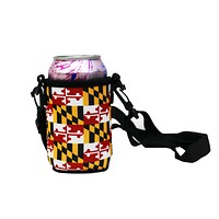 Maryland Flag / Can Cooler with Strap