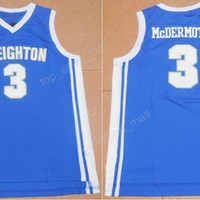 Newest 3 Doug McDermott Jersey Creighton Bluejays College Basketball Jerseys Sale For Sport Fans All Stitched Team Blue Top Quality On Sale