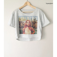 Lana Del Rey Paradise Popular American Singer Music Alternative Rock Hip Hop Pop Women Top Wide Crop Fashion T shirt Free Size