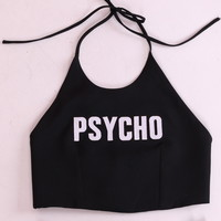 Glitters For Dinner — Made To Order - Psycho Halter Top