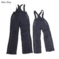 Thicken Brand Winter Kids Ski Pants 8-16 Windproof Overall Pants Tracksuits for Children Waterproof Big Boys Girls Snow Ski Pant
