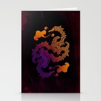 Dragons Blow Stationery Cards by Boots | Society6
