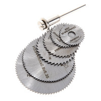 1 Set Dremel Cutoff Circular Saw HSS Rotary Blade Tool Cutting Discs Mandrel for use in carpentry and crafts