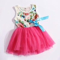 High Quality Summer Children Princess Mesh Dress Kids Clothing Party Wedding Prom Dresses Girls Dress
