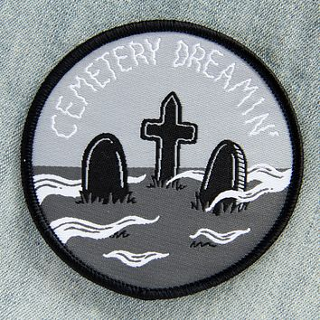 "Cemetery Dreaming Circular 2.75"" Iron On Patch"