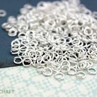 Tiny Silver Jump Rings, 4mm Jump Rings, Silver Color