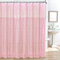 Lace 14-pc. Fabric Shower Curtain, Liner & Hook Set