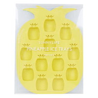 Set of Two Pineapple Ice Trays - Multi