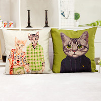 Family Cat Couch Pillow Cases