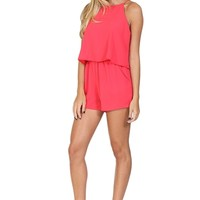 Pink Flowy Romper at Blush Boutique Miami - ShopBlush.com : Blush Boutique Miami – ShopBlush.com