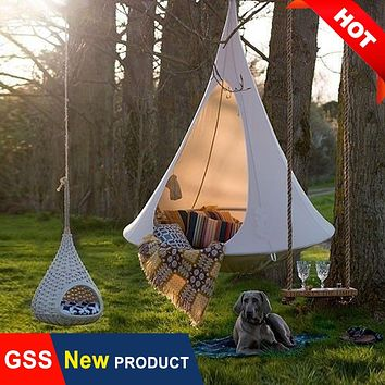 Outdoor Garden Camping Hammock Swing Chair Children Room Gym Fitness Teepee Tree Hamaca Tent Ceiling Hanging Sofa Bed