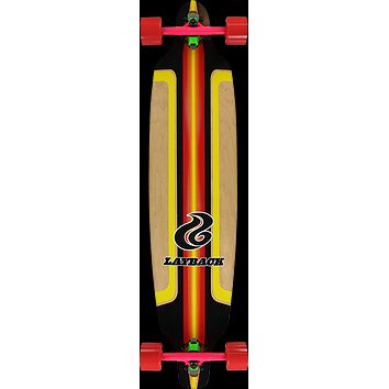 Layback Finish Line Bamboo Drop Thru -9.5x41 Red Longboard