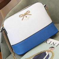 Kate Spade 2018 new shoulder bag bow female bag shell bag messenger bag F0896-1 blue