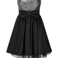 Prodigy Red | ProdigyRed Ellaa Sequin Bow Bandeau Dress