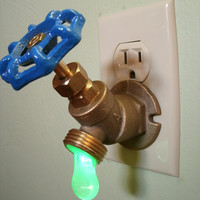 Green LED Faucet Valve night light by Greyturtle on Etsy