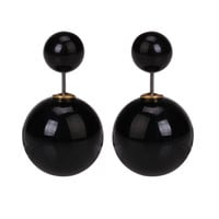 Gum Tee Mise en Style Tribal Earrings - Metallic Black