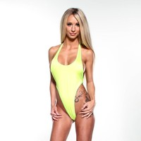 Monokini G-String - Yellow - Neon Green