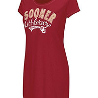 Oklahoma Sooners NCAA Ladies Boat Neck Cover Up T-Shirt (Large)