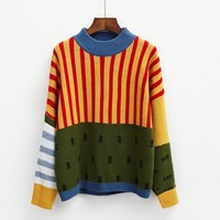 harajuku sweaters women sweaters and pullovers 2018 korean style autumn and winter tree cute retro christmas sweater womens