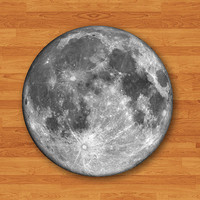 Round Mouse Pad Moon Dark Side Hipster MousePad Natural Desk Deco Vintage Office Computer Pad Personalized Gift For HER HIM Electronics Pads