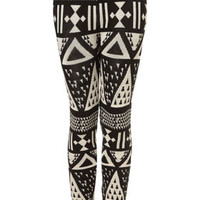 Large Aztec Knitted Leggings - New In This Week  - New In