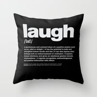definition LLL - Laugh 2 Throw Pillow by colli13designs:by Su