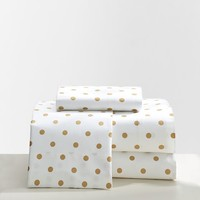 The Emily + Meritt Metallic Dottie Sheet Set