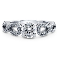 Sterling Silver Round CZ Woven Solitaire Ring 1.36 ct.twBe the first to write a reviewSKU# R961-01