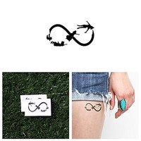 Peter Pan Infinity Sign Temporary Tattoo (Set of 2)