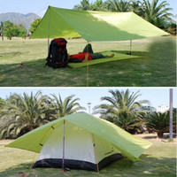 Outdoor Sport Accessories Large Space Waterproof Ultralight Sun Shelter Awning Beach Tent Camping Cushion Survival Shelter