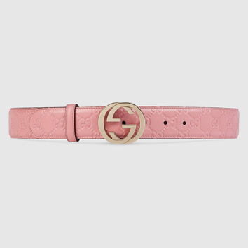 Gucci - Gucci Signature belt with G buckle